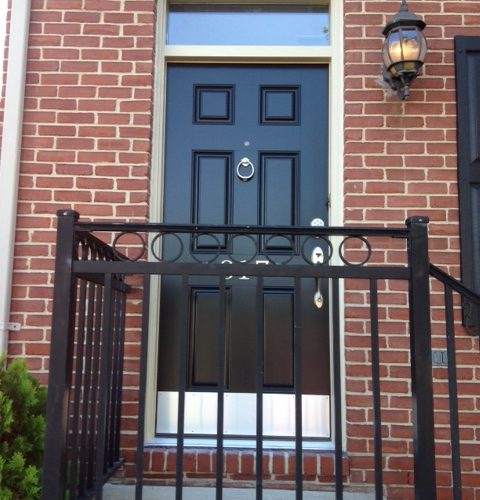 black-custom-front-door-baltimore-maryland